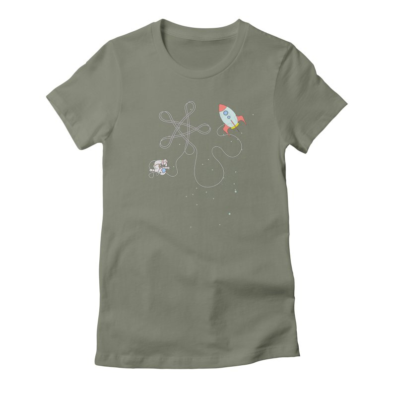 Twinkle, Twinkle, Little Space Man Women's Fitted T-Shirt by cumulo7's Artist Shop