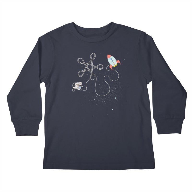 Twinkle, Twinkle, Little Space Man Kids Longsleeve T-Shirt by Cumulo 7