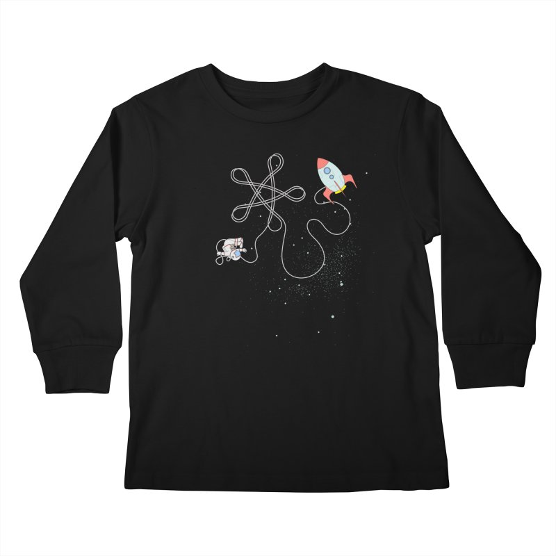 Twinkle, Twinkle, Little Space Man Kids Longsleeve T-Shirt by Cumulo 7