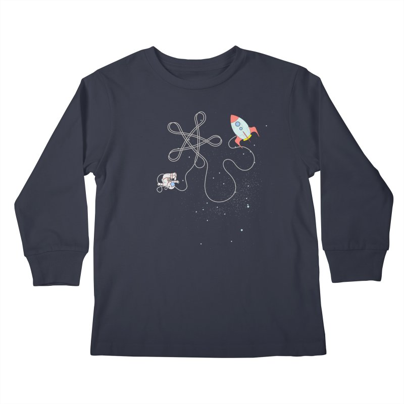 Twinkle, Twinkle, Little Space Man Kids Longsleeve T-Shirt by cumulo7's Artist Shop