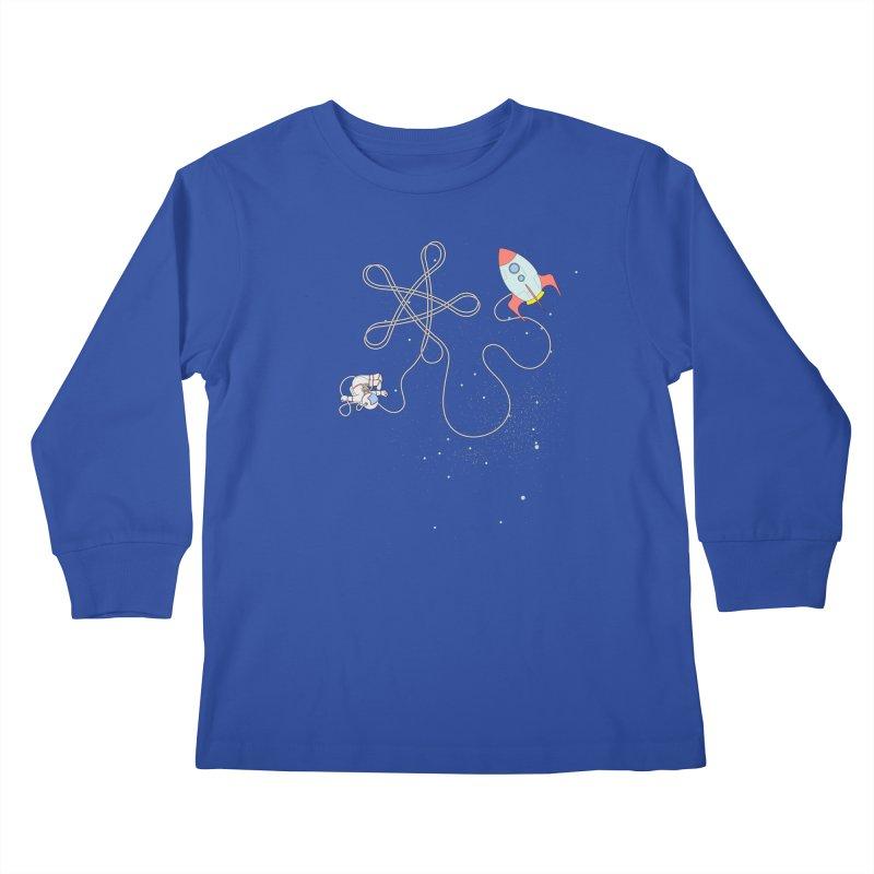 Twinkle, Twinkle, Little Space Man Kids Longsleeve T-Shirt by cumulo7's Artist Shop