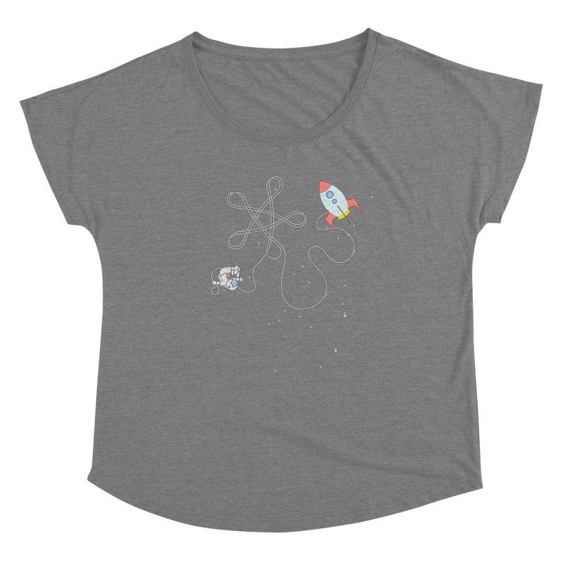 Twinkle, Twinkle, Little Space Man Women's Scoop Neck by Cumulo 7