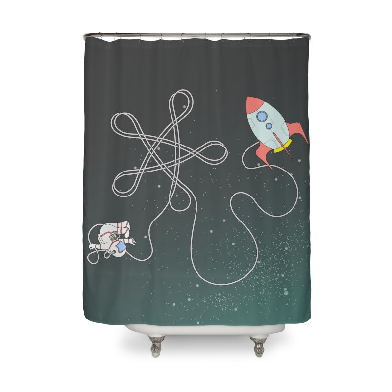Twinkle, Twinkle, Little Space Man Home Shower Curtain by Cumulo 7