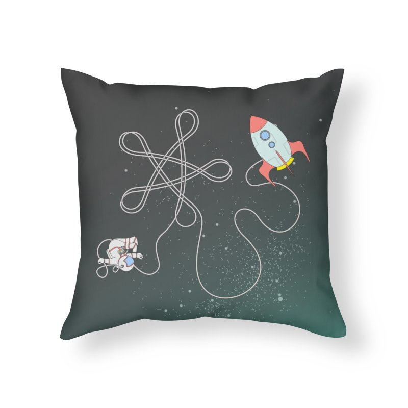 Twinkle, Twinkle, Little Space Man Home Throw Pillow by Cumulo 7