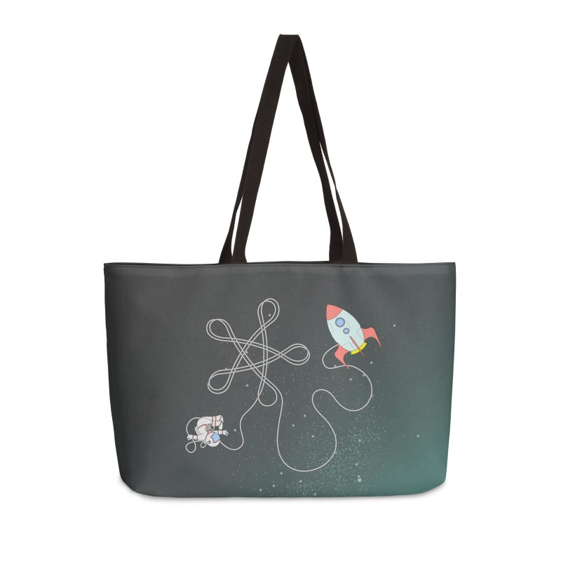 Twinkle, Twinkle, Little Space Man Accessories Weekender Bag Bag by Cumulo 7