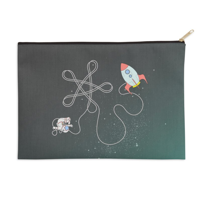 Twinkle, Twinkle, Little Space Man Accessories Zip Pouch by cumulo7's Artist Shop