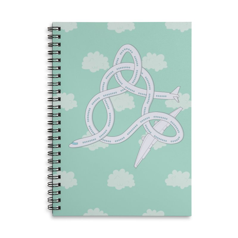 Airplane! Accessories Lined Spiral Notebook by Cumulo 7