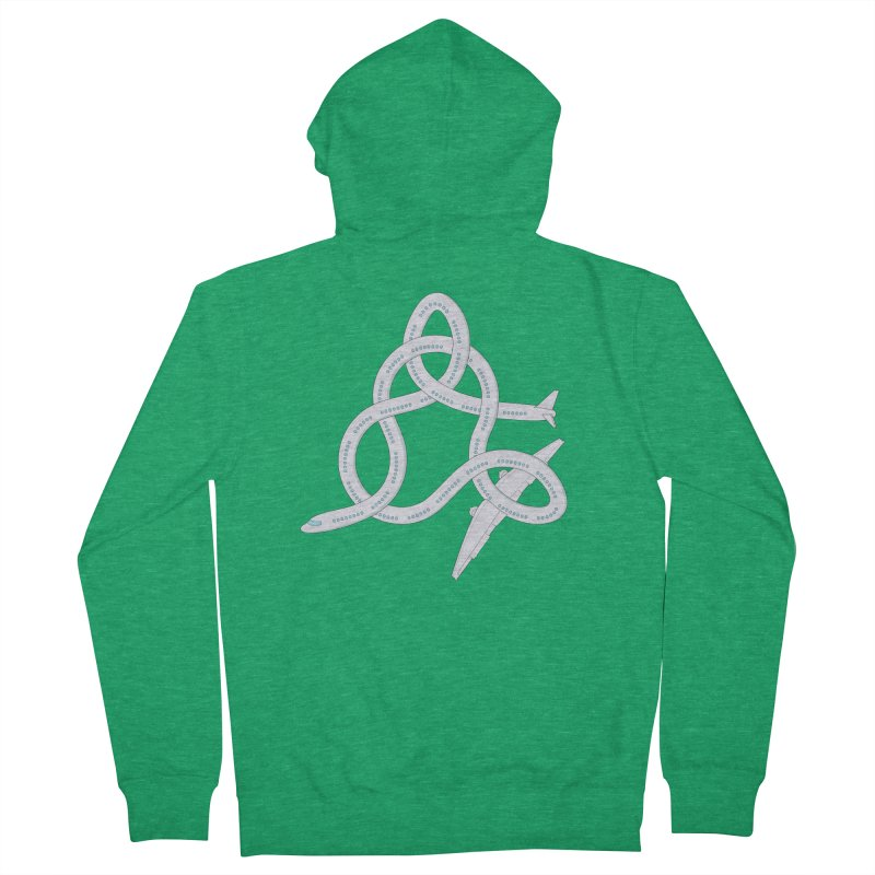 Airplane! Women's French Terry Zip-Up Hoody by cumulo7's Artist Shop