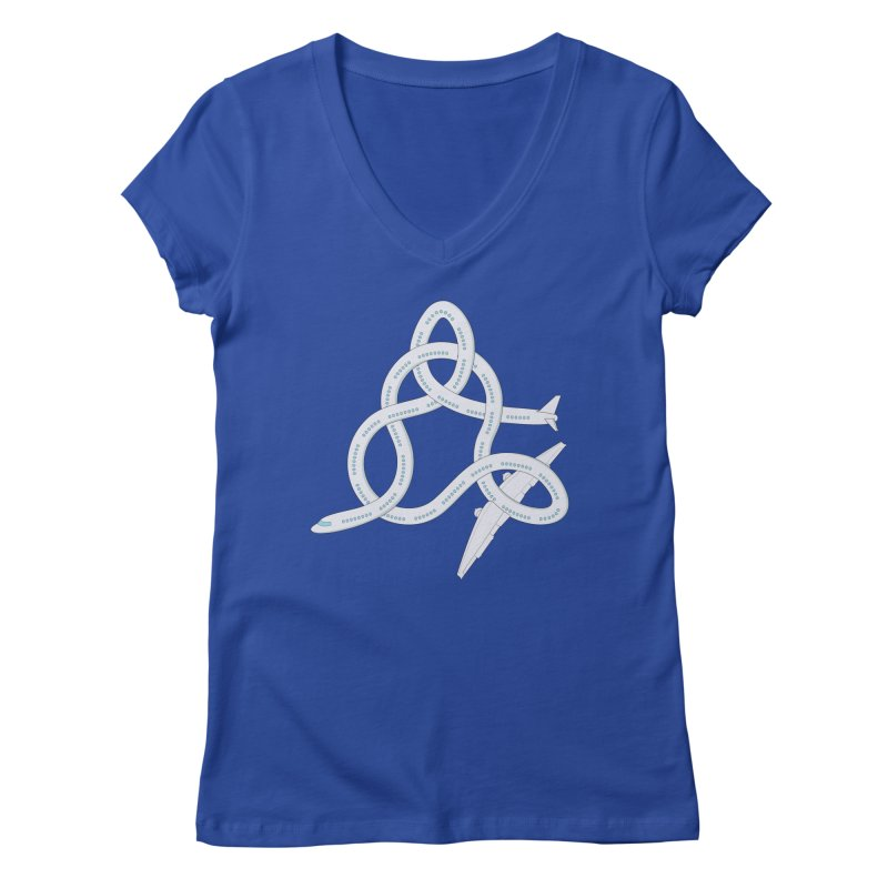 Airplane! Women's Regular V-Neck by Cumulo 7