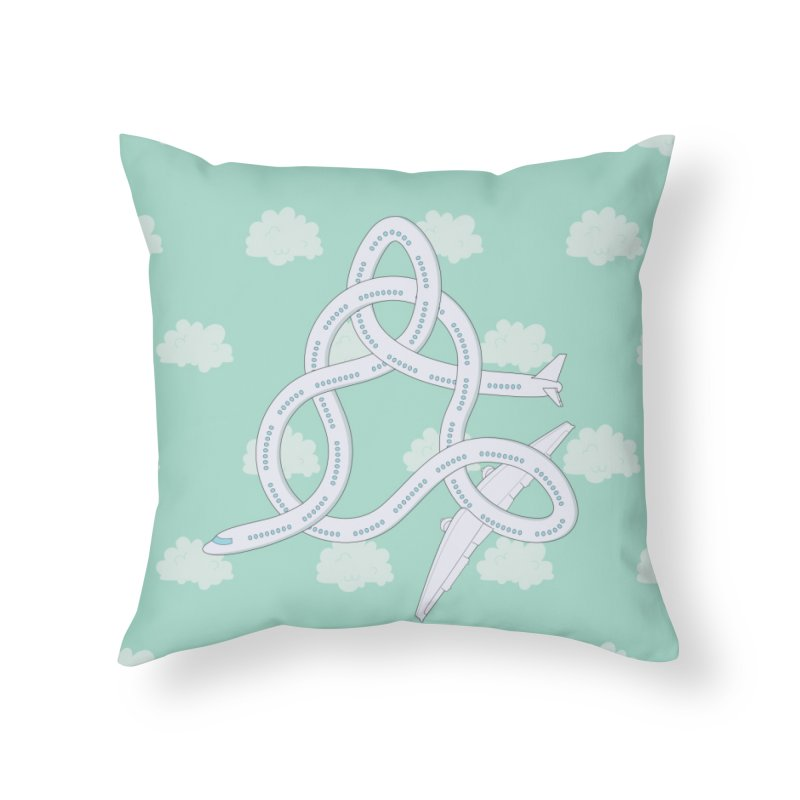 Airplane! Home Throw Pillow by cumulo7's Artist Shop