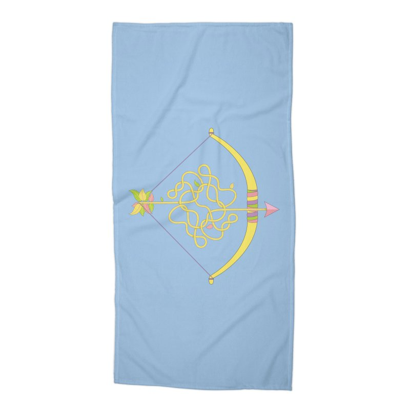 Knotted Arrow Accessories Beach Towel by cumulo7's Artist Shop