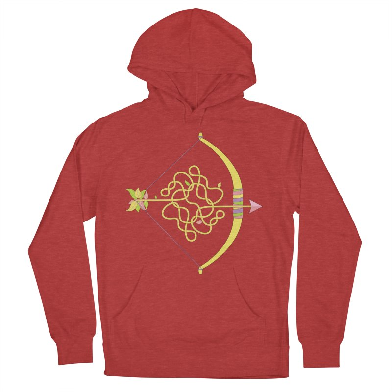 Knotted Arrow Women's French Terry Pullover Hoody by cumulo7's Artist Shop