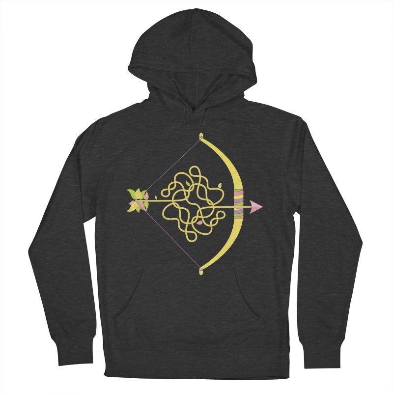Knotted Arrow Men's French Terry Pullover Hoody by cumulo7's Artist Shop