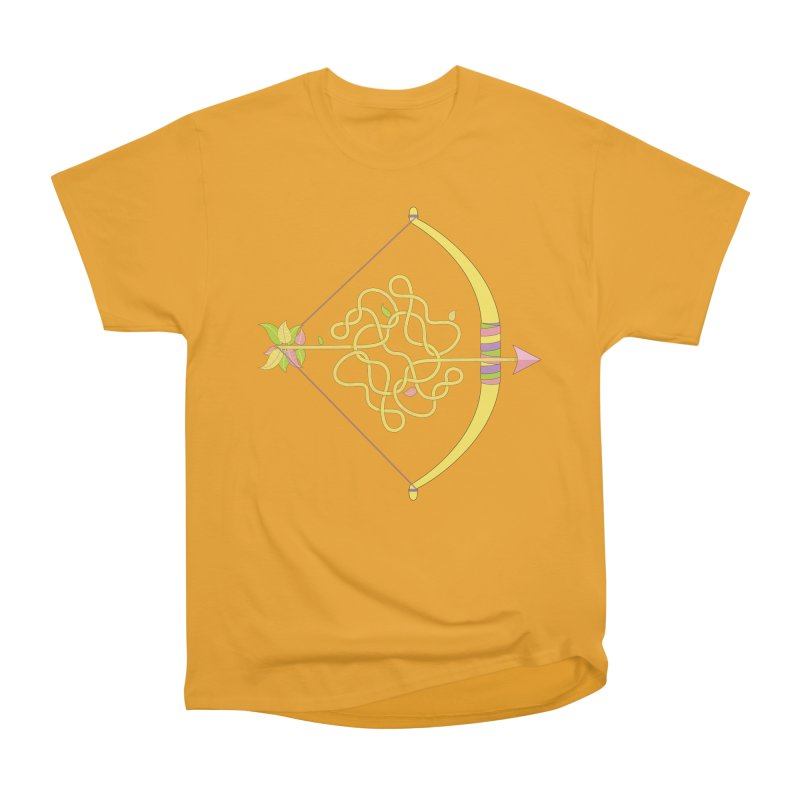 Knotted Arrow Men's Heavyweight T-Shirt by Cumulo 7