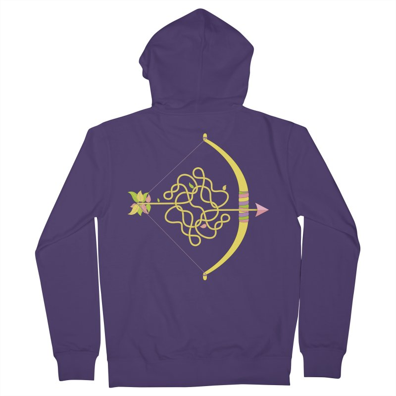 Knotted Arrow Women's French Terry Zip-Up Hoody by cumulo7's Artist Shop