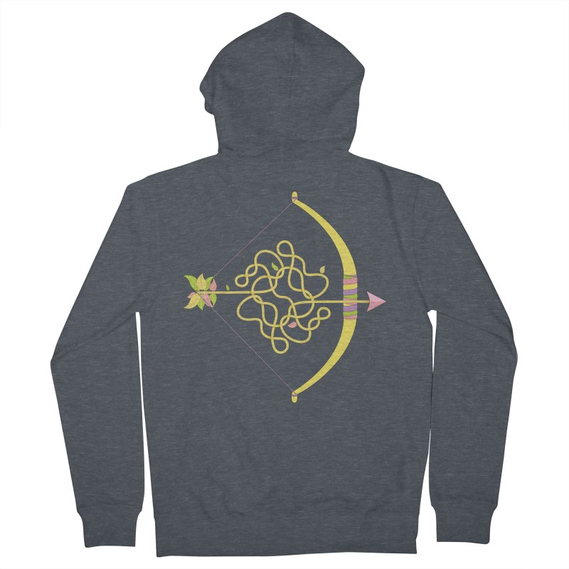 Knotted Arrow Men's French Terry Zip-Up Hoody by cumulo7's Artist Shop