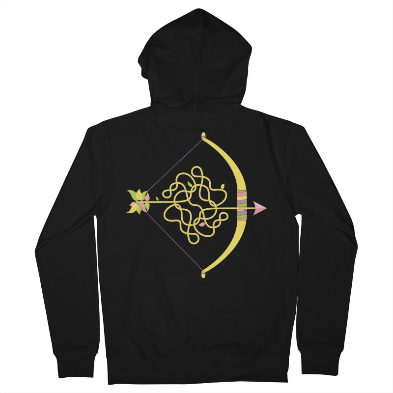 Knotted Arrow Men's Zip-Up Hoody by cumulo7's Artist Shop