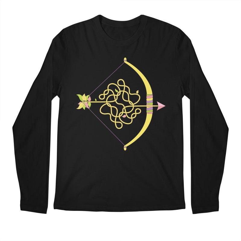 Knotted Arrow Men's Regular Longsleeve T-Shirt by cumulo7's Artist Shop