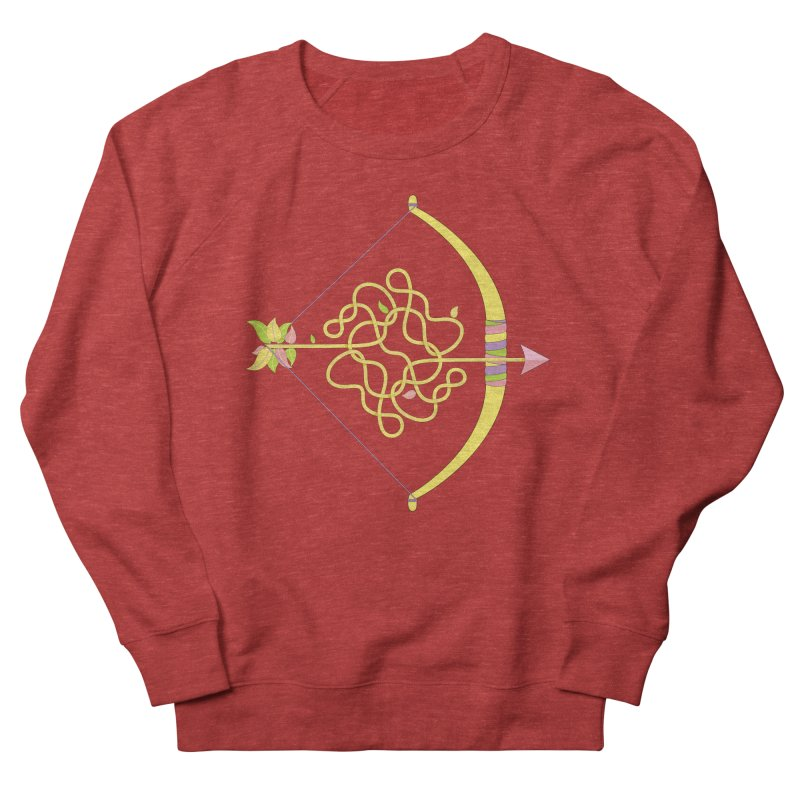 Knotted Arrow Men's French Terry Sweatshirt by cumulo7's Artist Shop