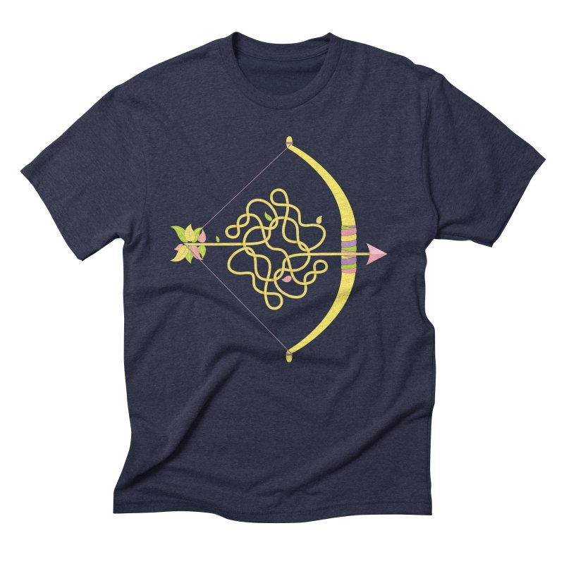 Knotted Arrow Men's Triblend T-Shirt by Cumulo 7