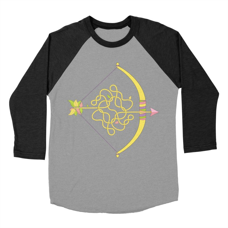 Knotted Arrow Women's Baseball Triblend T-Shirt by cumulo7's Artist Shop