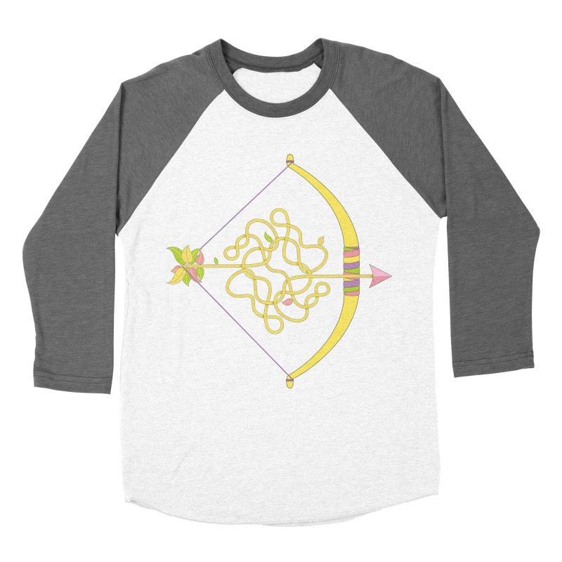 Knotted Arrow Men's Baseball Triblend Longsleeve T-Shirt by Cumulo 7