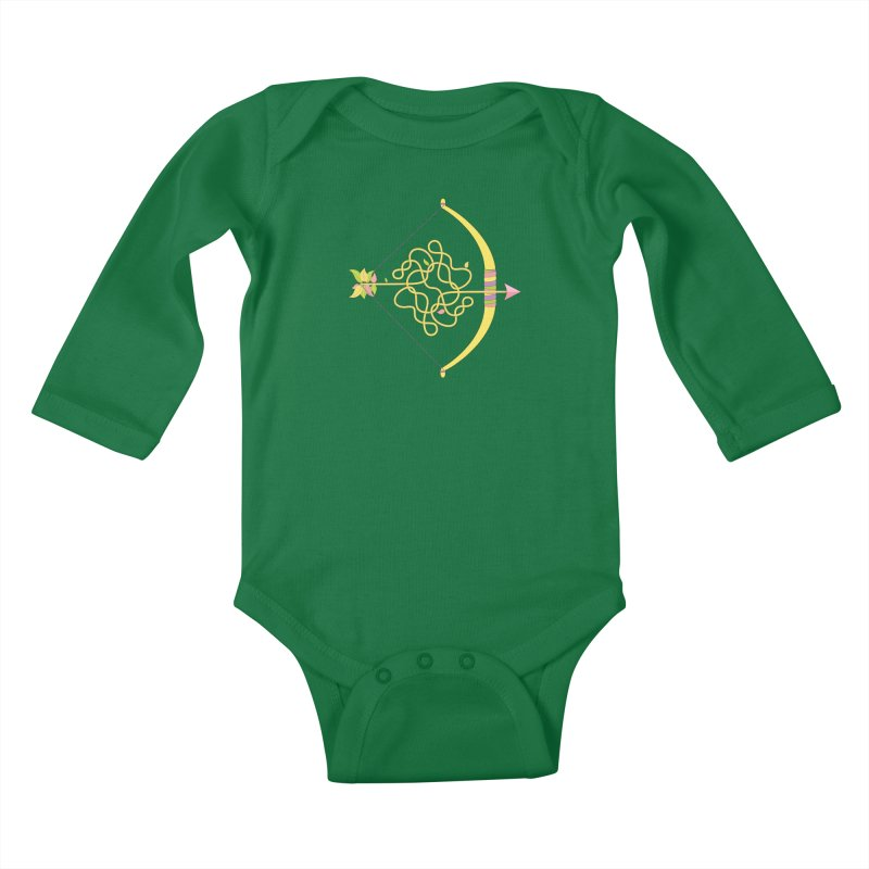 Knotted Arrow Kids Baby Longsleeve Bodysuit by Cumulo 7