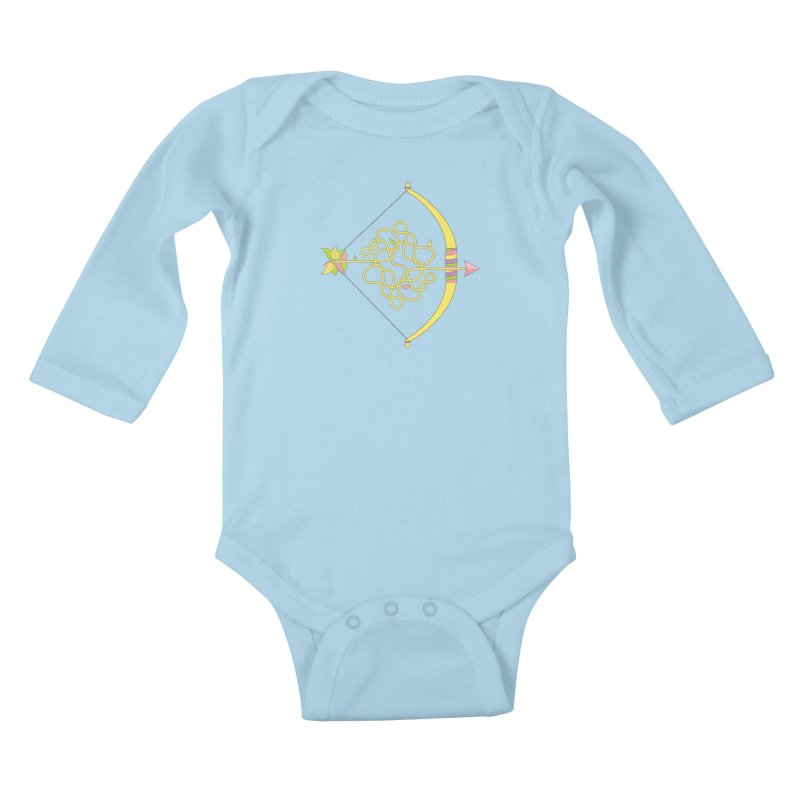 Knotted Arrow Kids Baby Longsleeve Bodysuit by cumulo7's Artist Shop