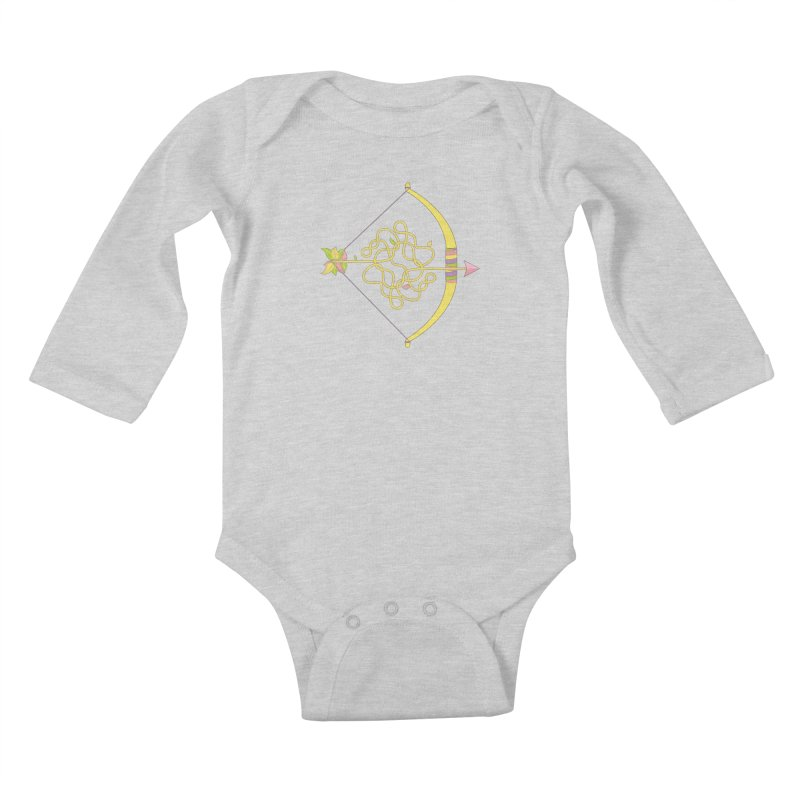 Knotted Arrow Kids Baby Longsleeve Bodysuit by Cumulo 7
