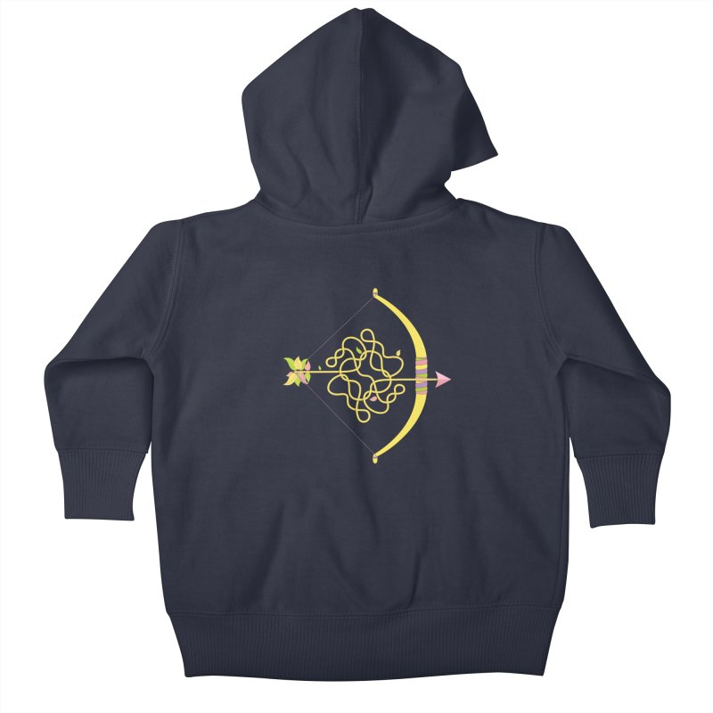 Knotted Arrow Kids Baby Zip-Up Hoody by cumulo7's Artist Shop