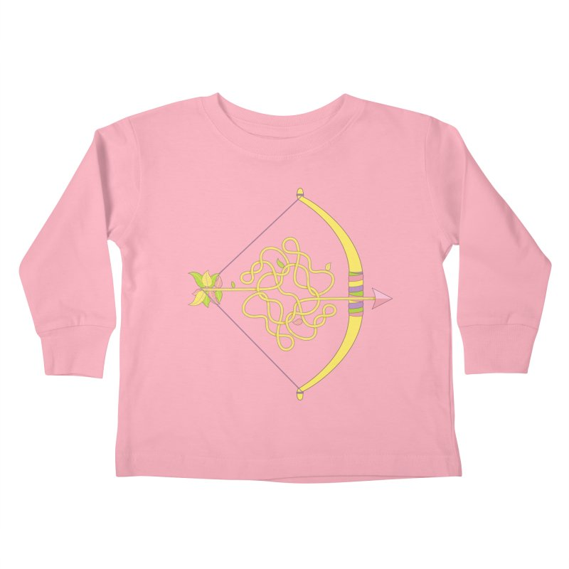 Knotted Arrow Kids Toddler Longsleeve T-Shirt by Cumulo 7