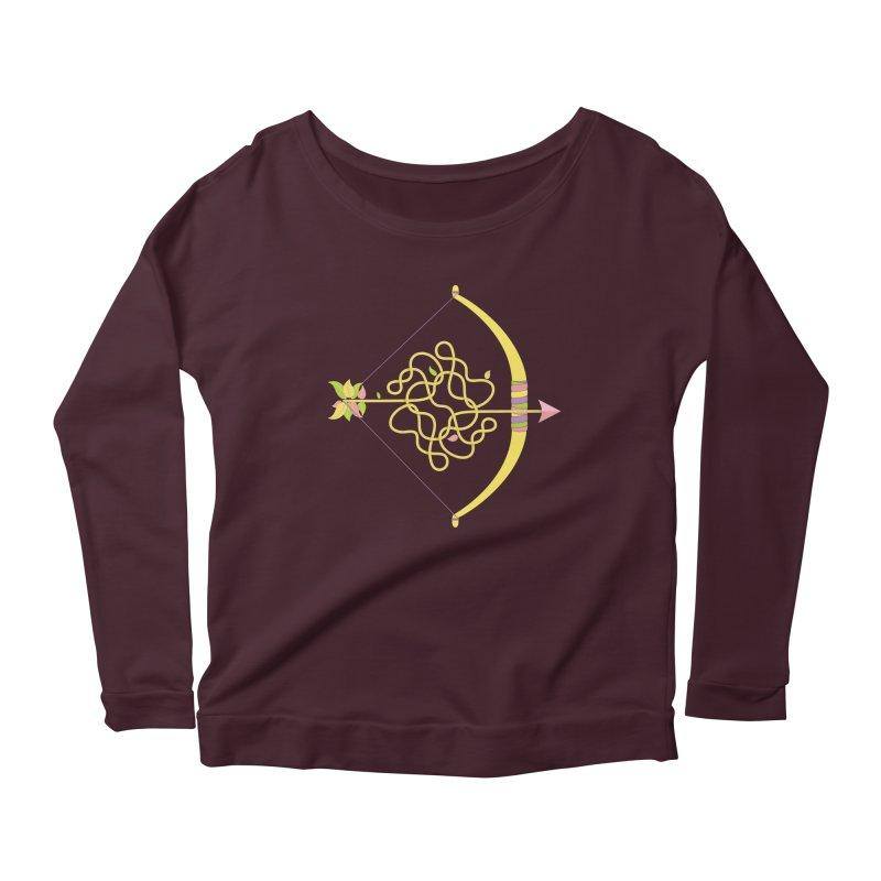 Knotted Arrow Women's Scoop Neck Longsleeve T-Shirt by Cumulo 7