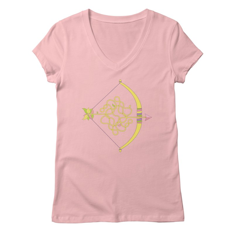 Knotted Arrow Women's V-Neck by cumulo7's Artist Shop