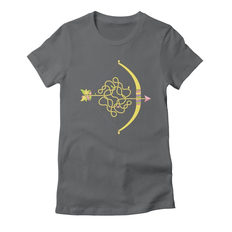 Knotted Arrow Women's Fitted T-Shirt by Cumulo 7