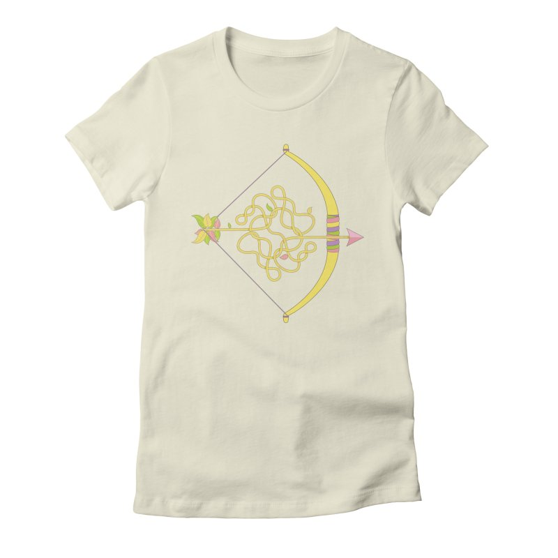 Knotted Arrow Women's Fitted T-Shirt by cumulo7's Artist Shop