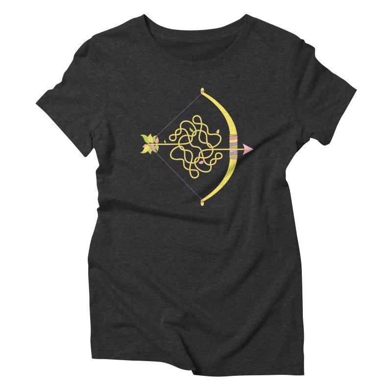 Knotted Arrow Women's Triblend T-shirt by cumulo7's Artist Shop