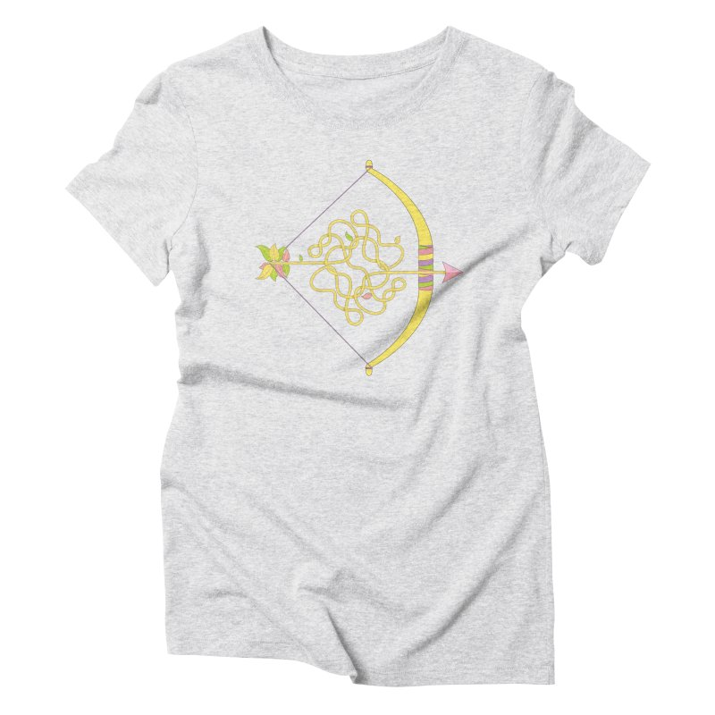 Knotted Arrow Women's Triblend T-Shirt by Cumulo 7