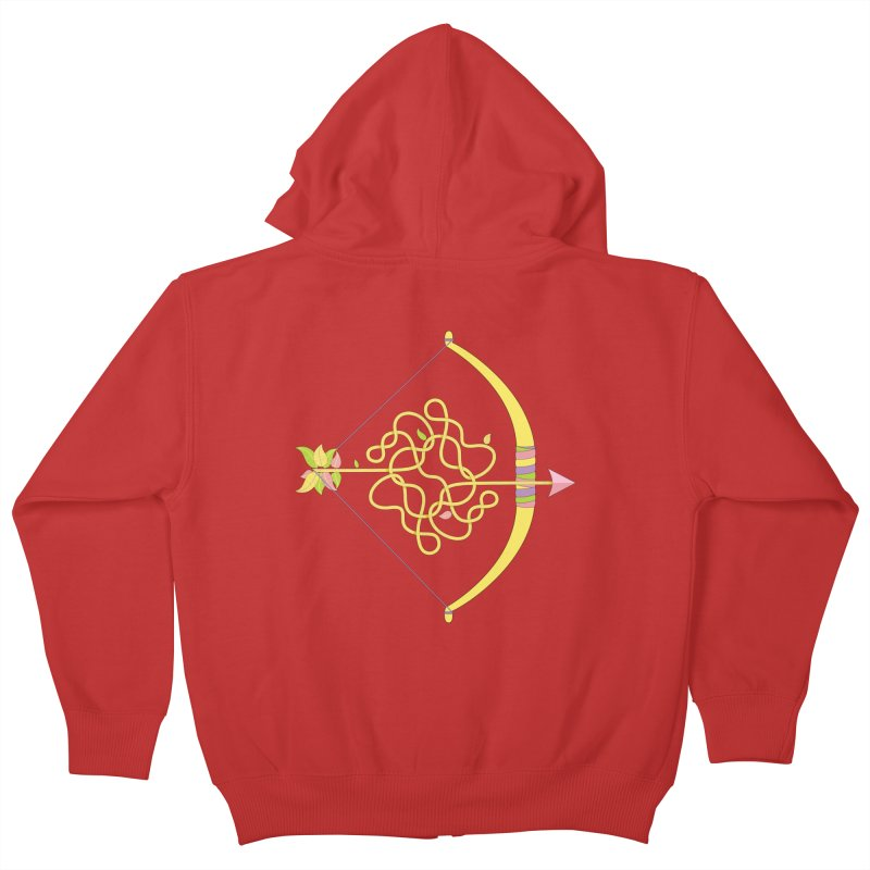 Knotted Arrow Kids Zip-Up Hoody by cumulo7's Artist Shop