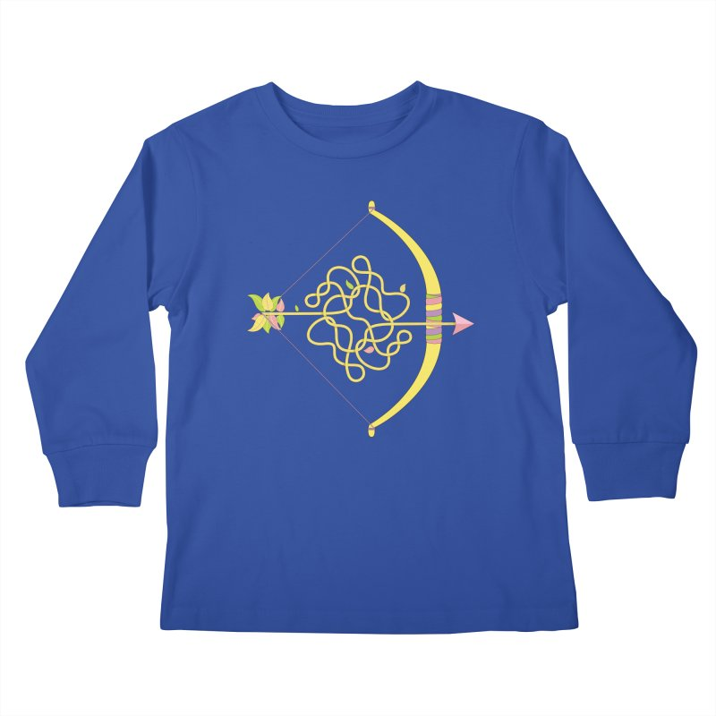 Knotted Arrow Kids Longsleeve T-Shirt by Cumulo 7