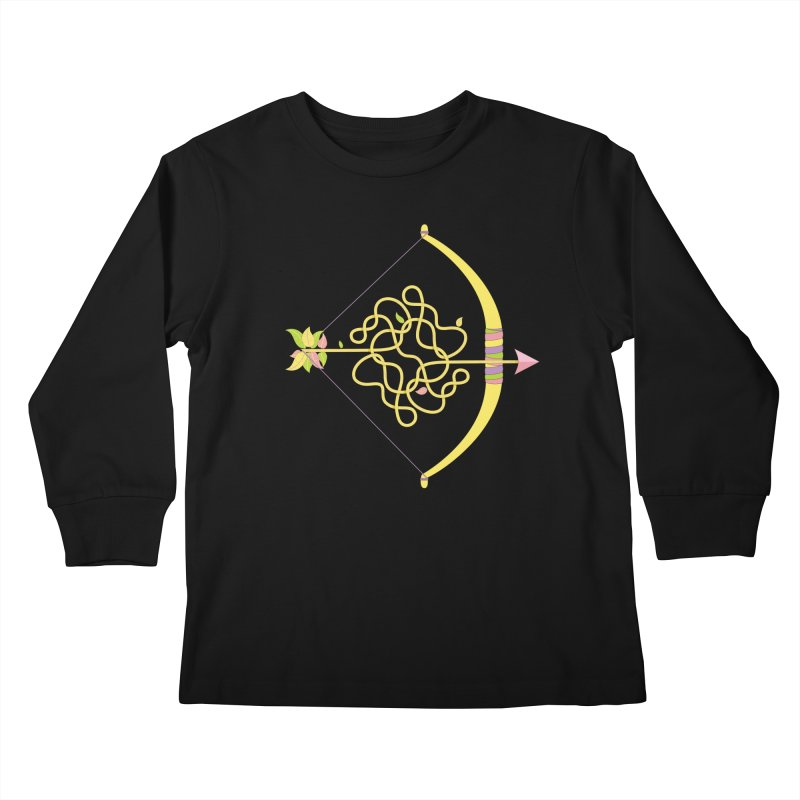 Knotted Arrow Kids Longsleeve T-Shirt by cumulo7's Artist Shop