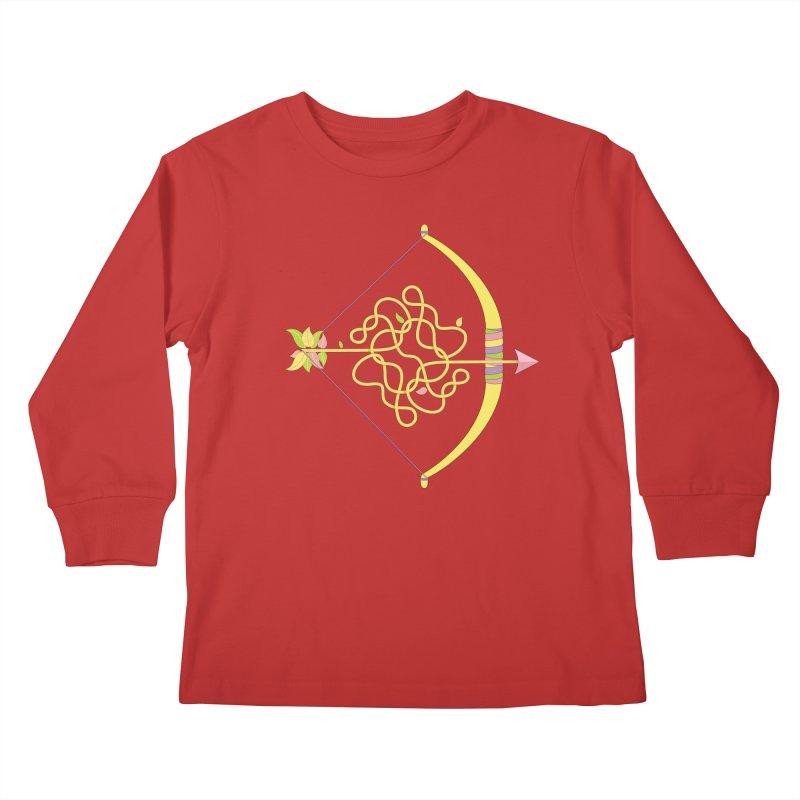 Knotted Arrow Kids Longsleeve T-Shirt by cumulo7's Artist Shop