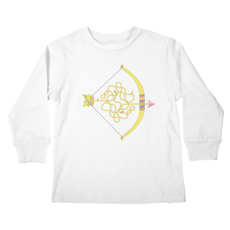 Knotted Arrow Kids Longsleeve T-Shirt by Cumulo 7