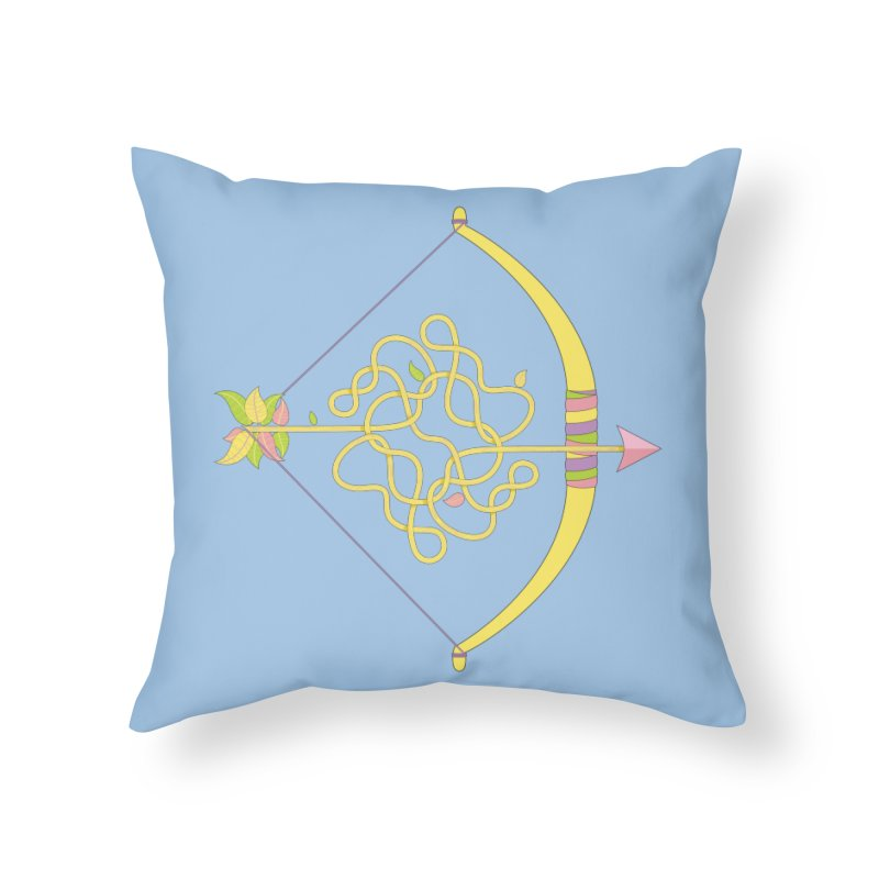 Knotted Arrow Home Throw Pillow by cumulo7's Artist Shop