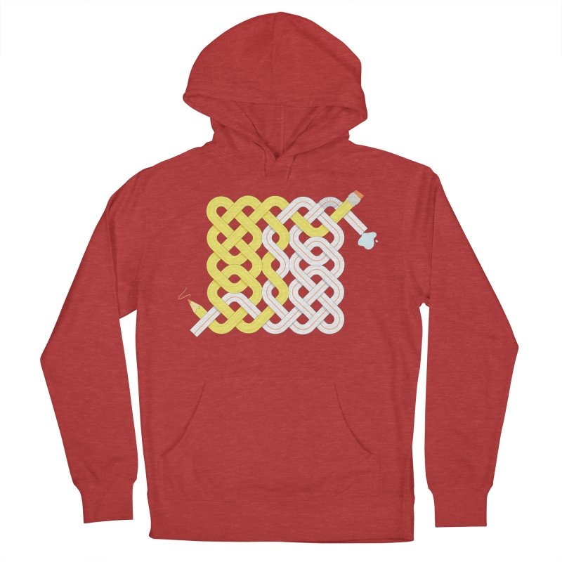 Exstrawdinary Drawing. Men's French Terry Pullover Hoody by Cumulo 7
