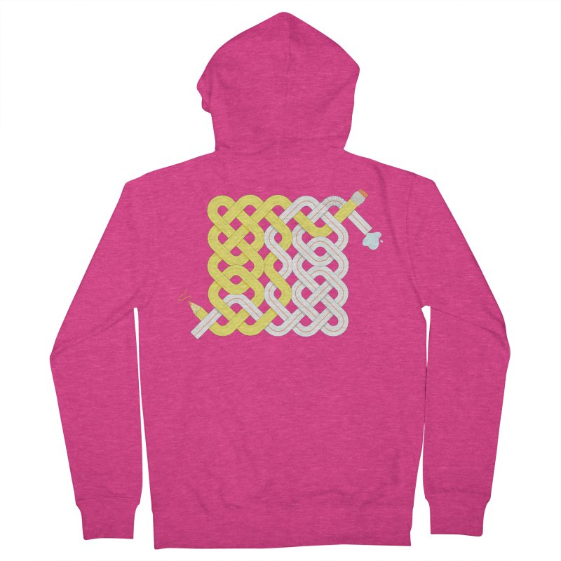 Exstrawdinary Drawing. Women's French Terry Zip-Up Hoody by Cumulo 7
