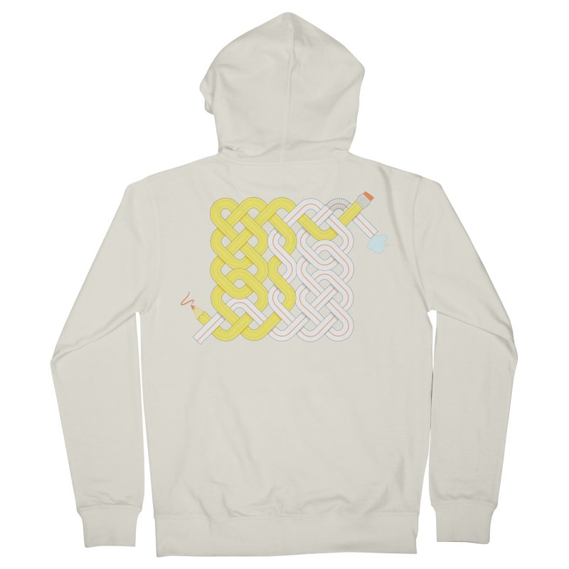 Exstrawdinary Drawing. Men's French Terry Zip-Up Hoody by Cumulo 7