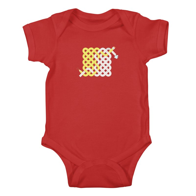Exstrawdinary Drawing. Kids Baby Bodysuit by Cumulo 7