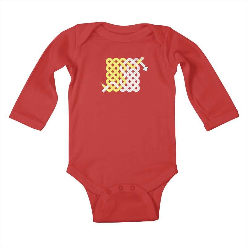 Exstrawdinary Drawing. Kids Baby Longsleeve Bodysuit by cumulo7's Artist Shop