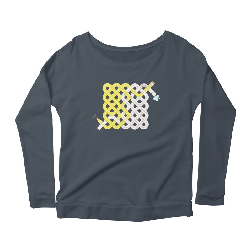 Exstrawdinary Drawing. Women's Scoop Neck Longsleeve T-Shirt by cumulo7's Artist Shop