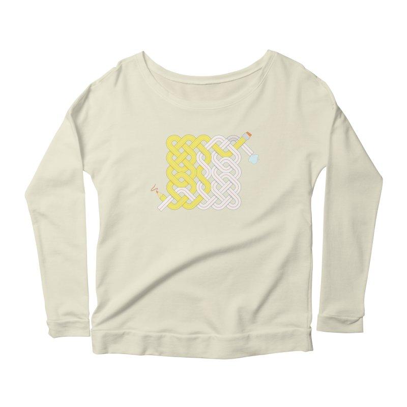 Exstrawdinary Drawing. Women's Scoop Neck Longsleeve T-Shirt by Cumulo 7